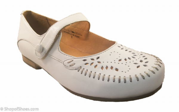 CLEMATIS easy b 2E-4E white Velcro bar shoe